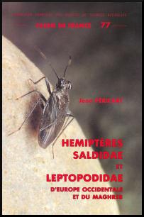 Couverture de la faune n° 77 - Hémiptères Saldidae et Leptopodidae d'Europe occidentale et du Maghreb