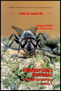 Couverture Faune de France 86 : Hyménoptères Sphecidae d'Europe occidentale