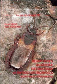 Couverture de la faune n° 91 - Hémiptères Aradidae,Piesmatidae et Dipsocoromorphes