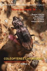 Couverture faune n° 94 - Coléoptères Carabidae de France